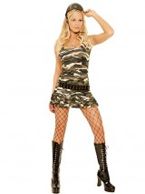 Sexy-Womens-Cadet-Cutie-Soldier-Adult-Roleplay-Costume-Large-Camouflage-0