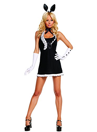 Sexy-Womens-Exotic-Black-Tie-Bunny-Adult-Roleplay-Costume-Small-BlackWhite-0