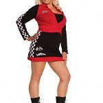 Sexy-Womens-High-Speed-Hottie-Race-Car-Driver-Roleplay-Costume-3X4X-BlackRed-0