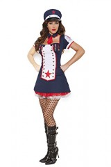 Sexy-Womens-Light-Up-Naval-Knockout-Nautical-Adult-Roleplay-Costume-Large-Navy-0