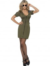 Smiffys-Womens-Olive-Green-Sexy-Top-Gun-Costume-US-Dress-14-16-0