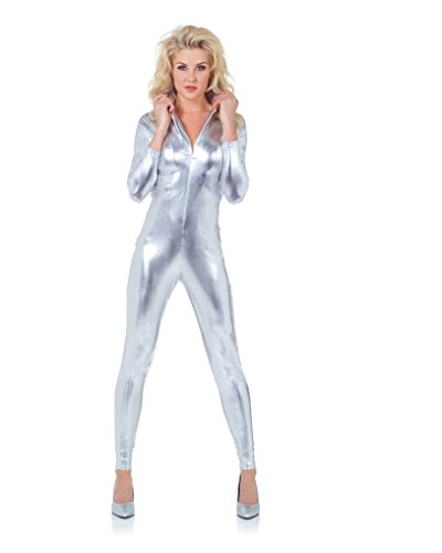 Underwraps-Womens-Stretch-Jumpsuit-Silver-Small-0