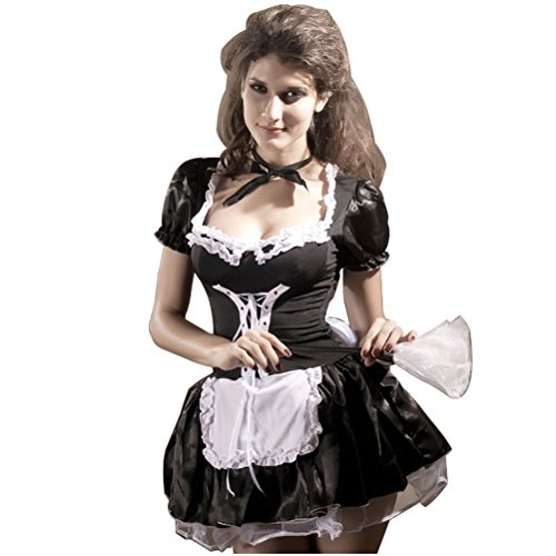 Women-Short-Sleeve-Halloween-Cosplay-Maid-Costumes-Dress-Flouncing-Game-Uniforms-Plus-Size-0