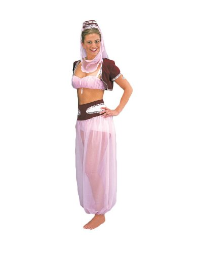 Womens-Genie-Theater-Costume-Large-PinkMaroon-0