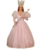Womens-Glinda-the-Good-Witch-Dress-Theater-Costume-Large-Pink-0