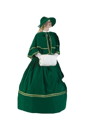 Womens-Green-Charles-Dickens-Caroler-Costume-L-0