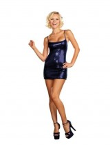 Womens-Large-10-14-Navy-Sequin-Dress-0