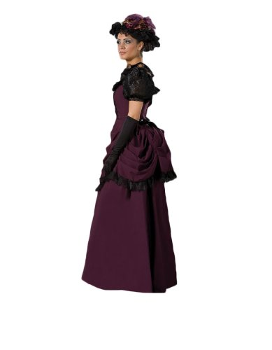 Womens-Large-19th-Century-Purple-Victorian-Dress-0