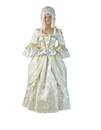 Womens-Marie-Antoinette-Colonial-Dress-M-Ivory-0