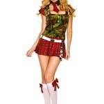 Womens-Medium-Large-Camo-School-Girl-Outfit-0