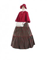 Womens-Red-Caroler-Dress-Theater-Costume-S-0