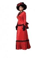 Womens-Red-Victorian-Sadie-Dress-Theater-Costume-L-0