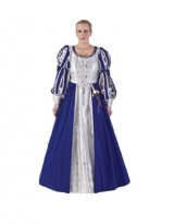 Womens-Royal-Blue-Musketeer-Lady-Dress-Theater-Costume-L-0