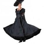 Womens-Victorian-Titanic-Dress-Large-Black-0