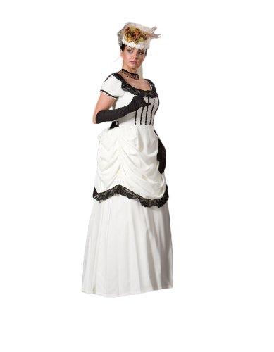 Womens-White-Victorian-Emma-Dress-Theater-Costume-L-0
